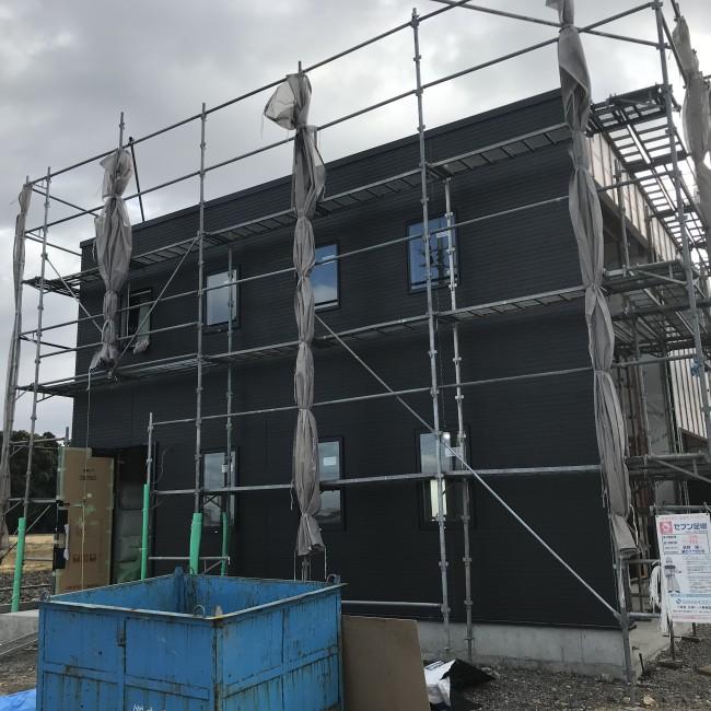 新モデルハウス建築中